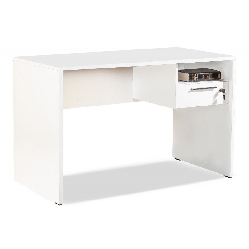 Concept pakoworld Desk W/ Lock Drawer in white colour 120x60x75 cm