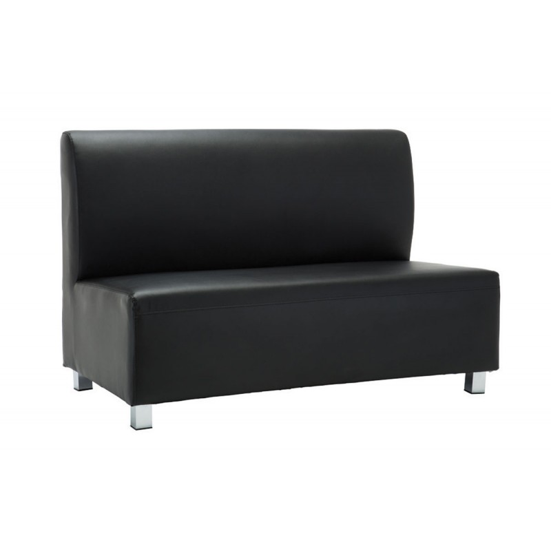 2 Seater sofa Bandy with pu in black color 130x71x88cm