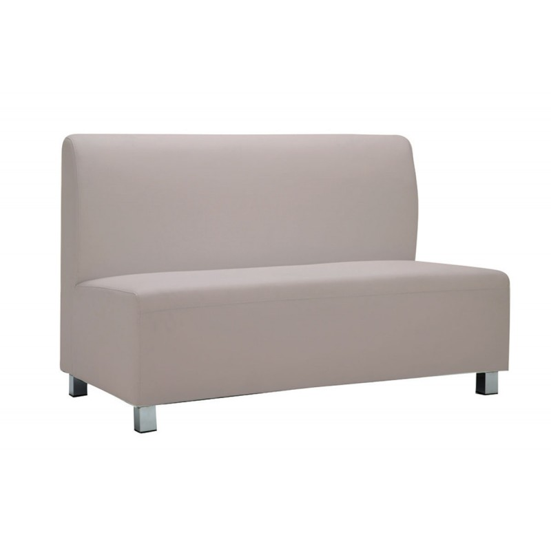 2 Seater sofa Bandy with pu in sand-grey color 130x71x88cm
