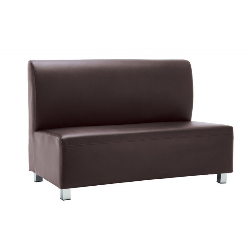 2 Seater sofa Bandy with pu in brown color 130x71x88cm