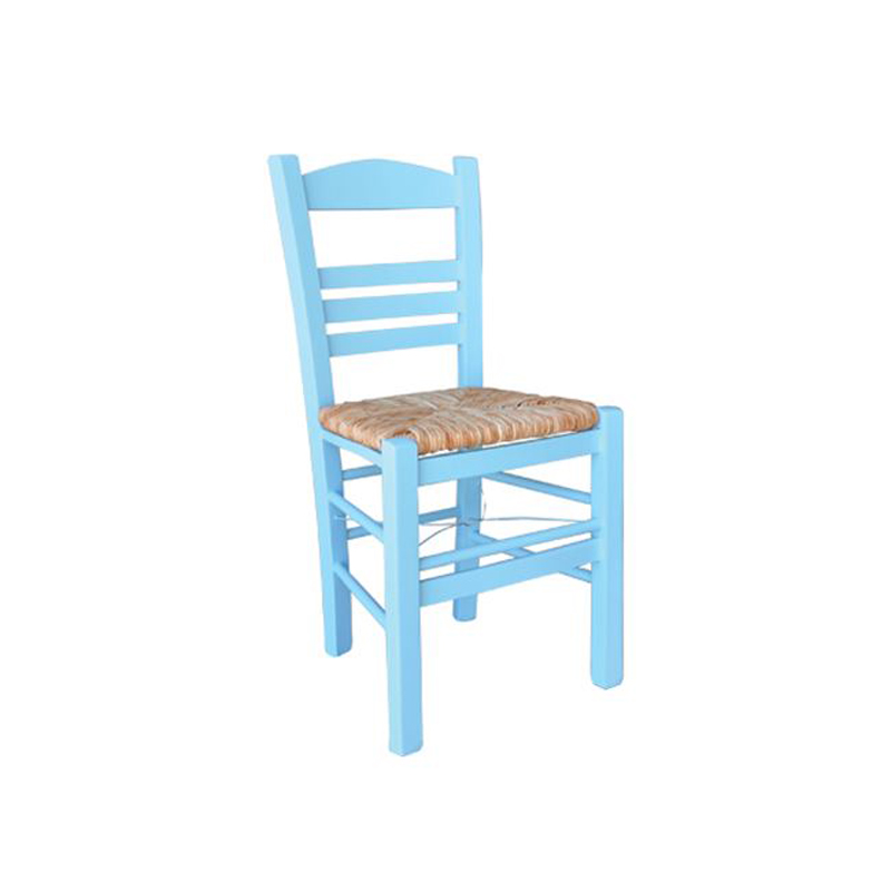 Sifnos cafe chair with blue lacquer mats