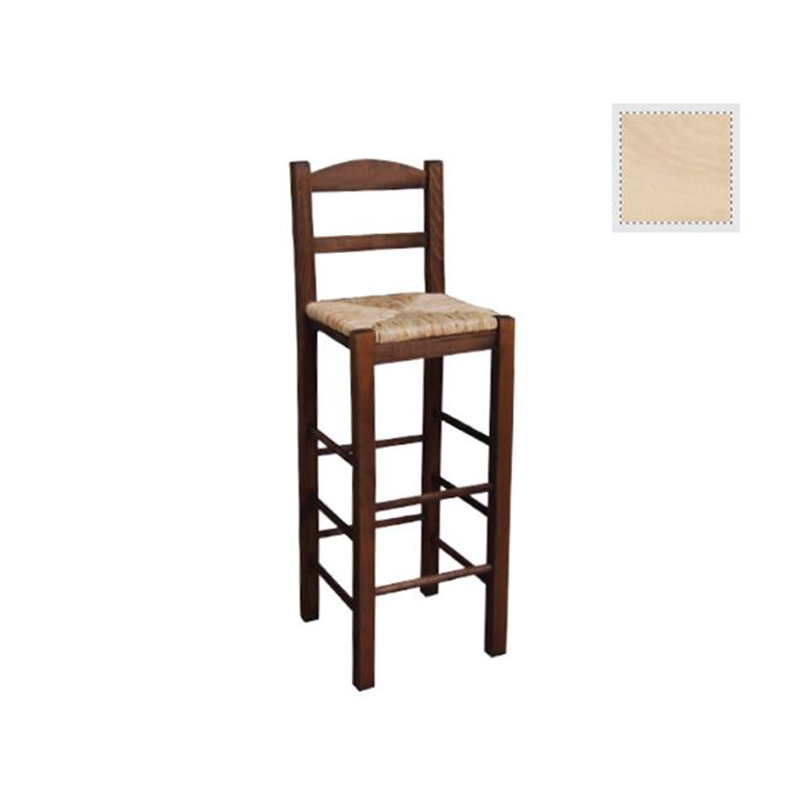 Sifnos bar stool with mats unpainted