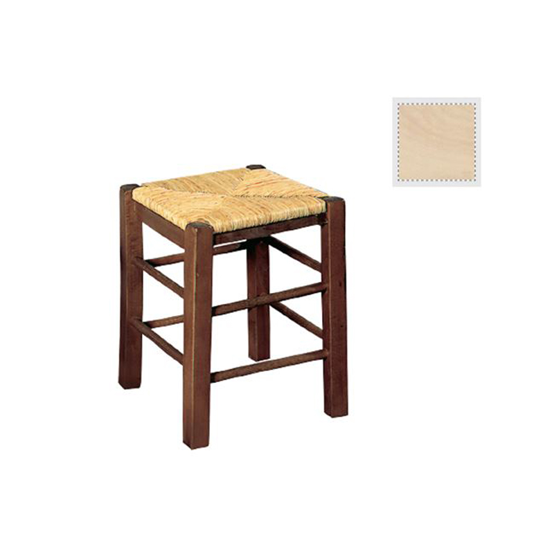 Auxiliary tavern stool with unpainted mat