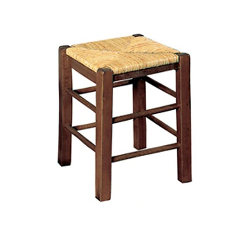 Auxiliary tavern stool with walnut color mat