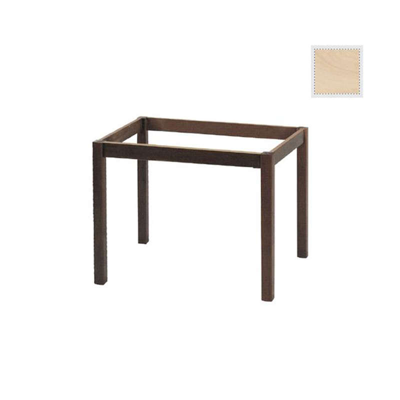 Coffee table base with detachable unpainted legs 75x115x73cm