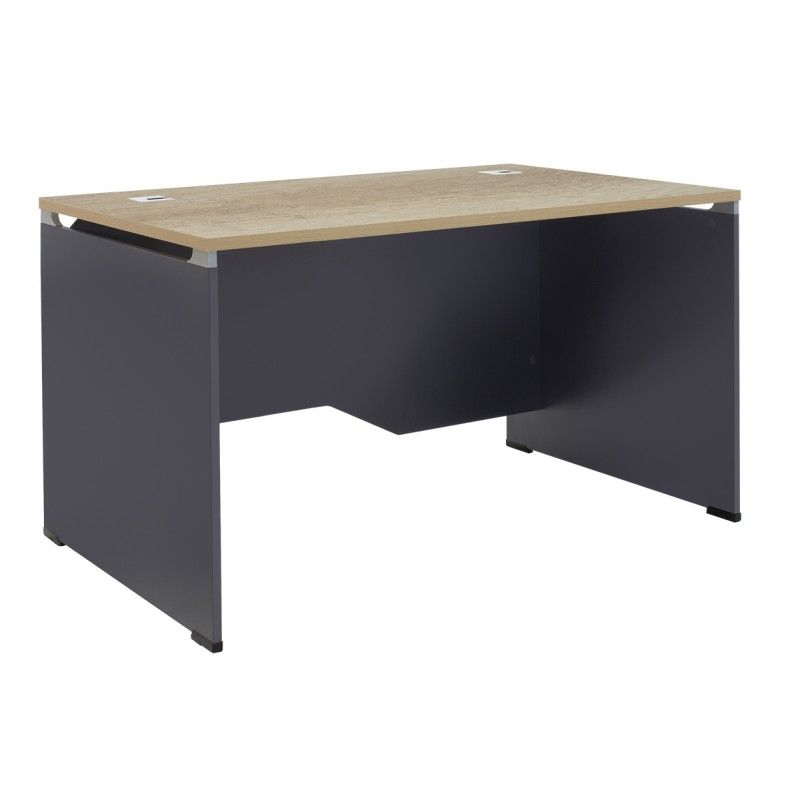Manager table Lotus pakoworld in oak-dark grey 120x80x75cm