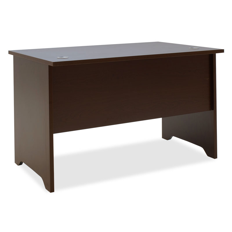 Office table without mobile drawer Amazon pakoworld walnut 120x75x75cm