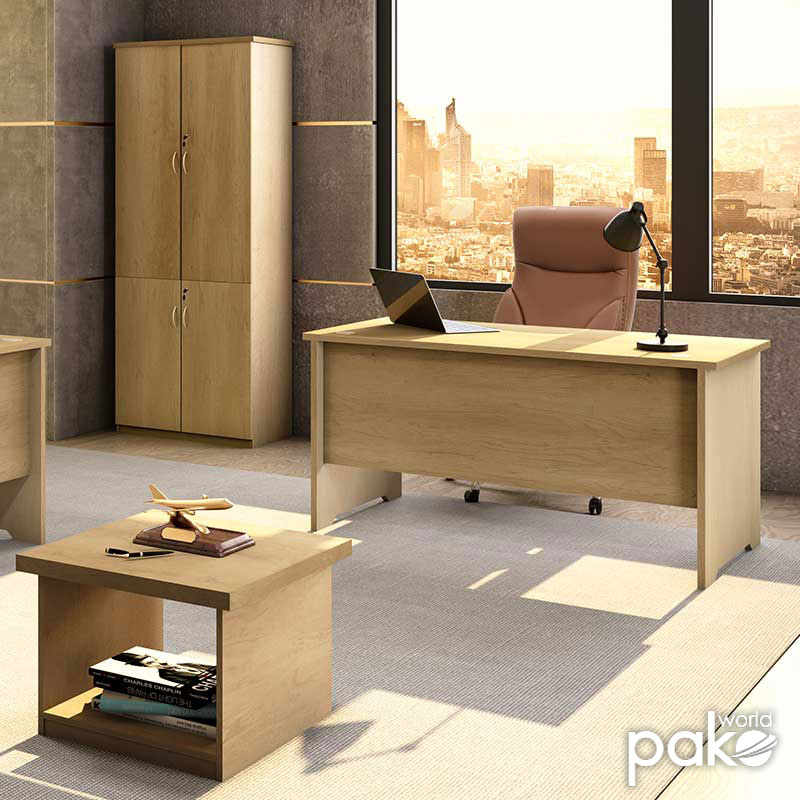 Office table without mobile drawer Amazon pakoworld sonoma 150x75x75
