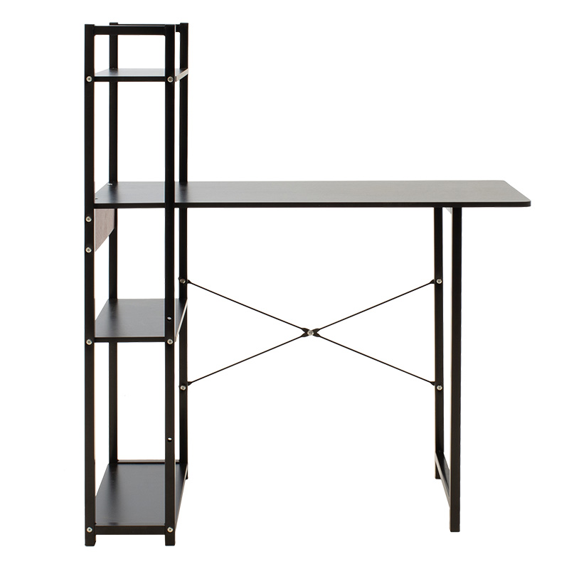 Metalic computer table Hero pakoworld MDF in black color 90x40x72/110cm