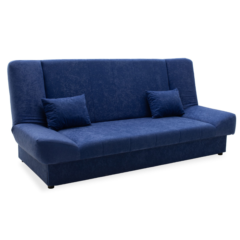 Sofa - bed Tiko pakoworld with storage space  fabric in blue color