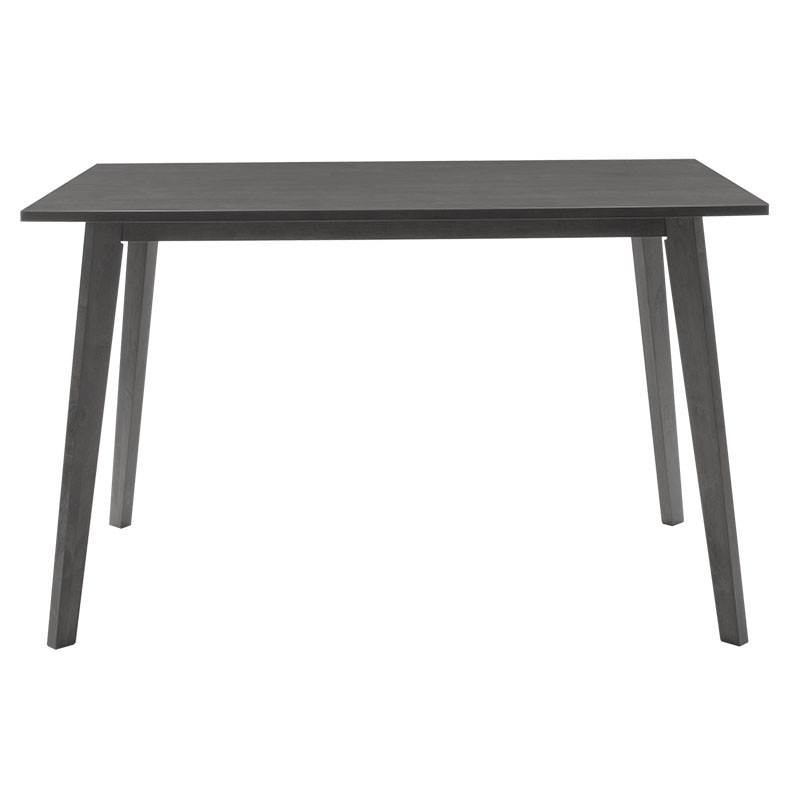 Dining table Benson pakoworld mdf - venner in rustic grey color 120x75x75cm