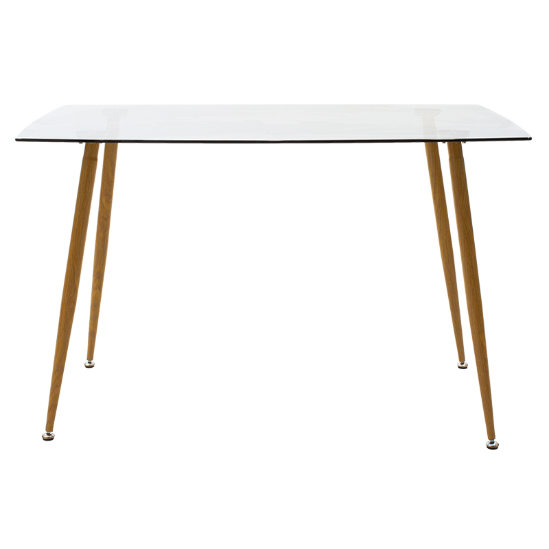 Table Chloe pakoworld glass - natural foot design 120x70x75cm