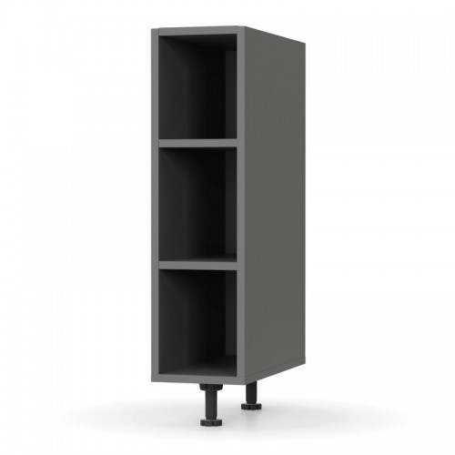 Charlotte kitchen shelves in anthracite color 20x60x82cm