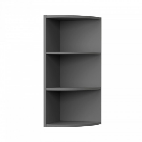 Charlotte kitchen shelves in anthracite color 28,5x28,5x72cm