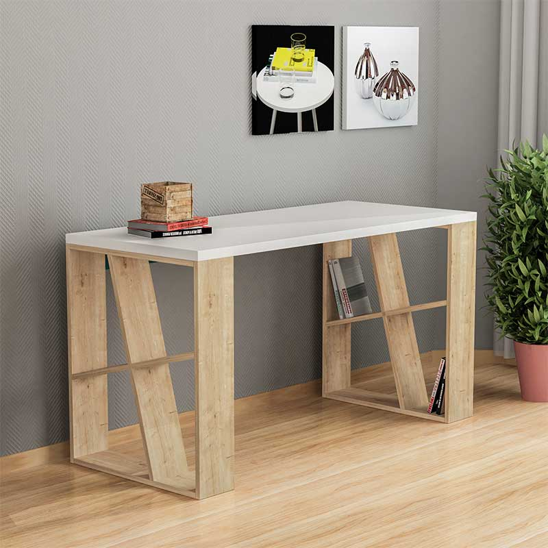 Working table Honey pakoworld white-light oak 140x60x75cm