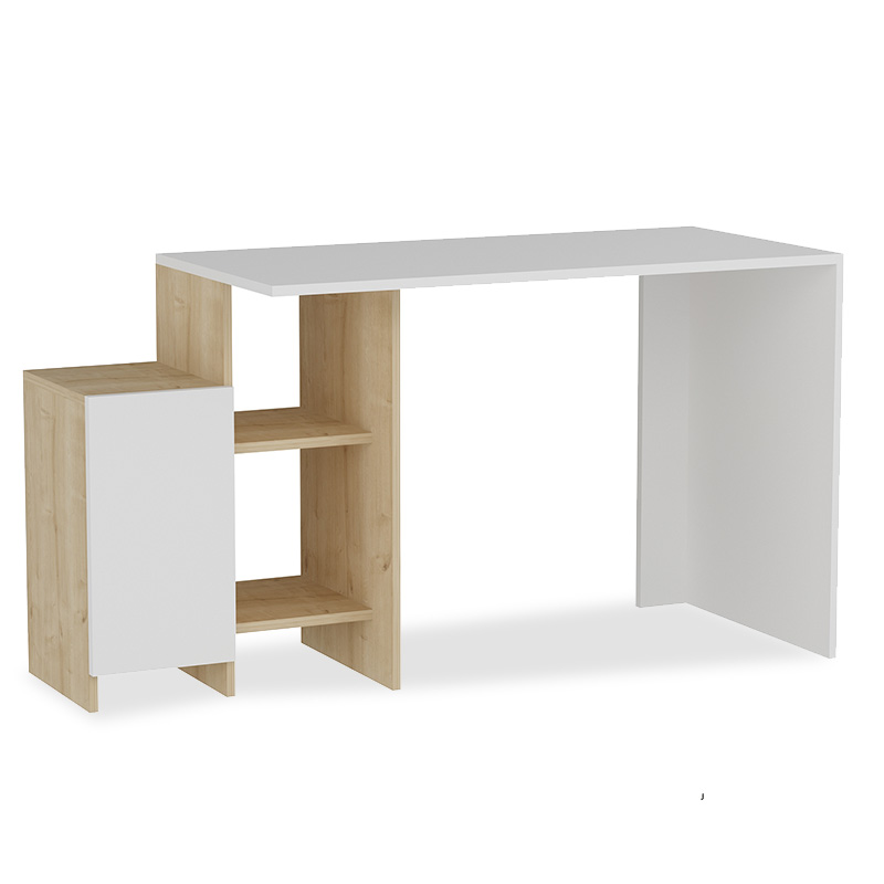 Office desk Kely pakoworld in white-oak color 113x55x74cm