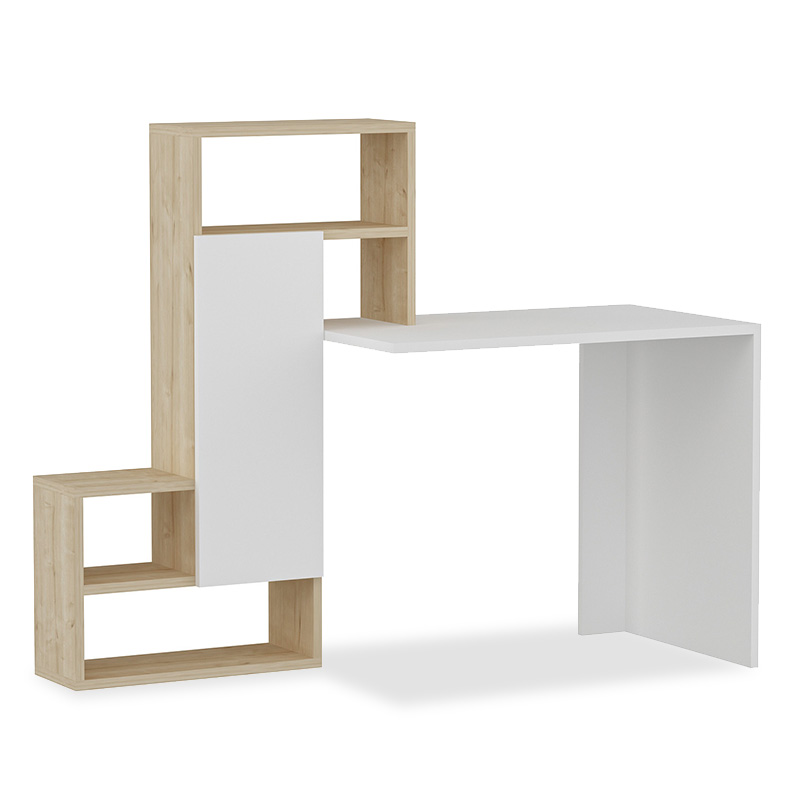 Office desk Irma pakoworld in white-oak color 138.5x55x119cm