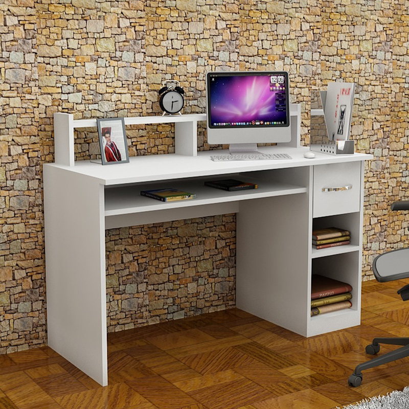 Office desk Mur pakoworld in white color 120x55x93.5cm